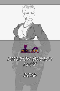 Patreon Sketch Pack 2016 by Renezuo