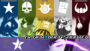 Black Rock Shooter - Wallpaper with Names by luke88cb