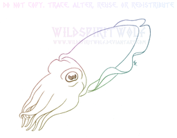 Cuttlefish Cephalopod Sketch by WildSpiritWolf
