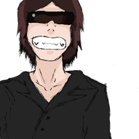 Dross,sonrriendo como en un anime. by christrack1