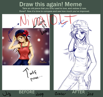 Before After Meme by Kazeoseki