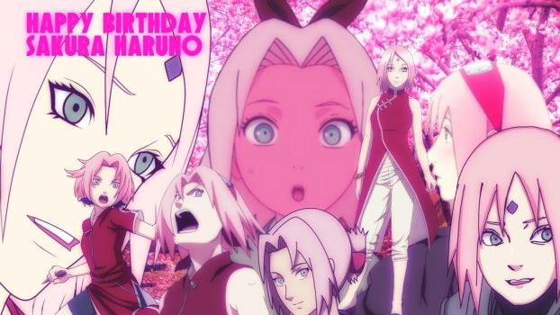 Happy birthday Sakura-Chan by KakashiXIrukaLover14