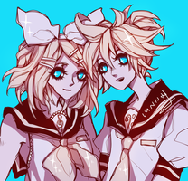 Kagamine twins by wiltking