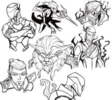 Cosmic Storm Villain Sketches by IHComicsHQ