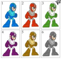 Megaman Classic COLORS by Brainstorm-bw-style