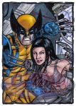 Wolverine X-23 Sketch Card by tonyperna