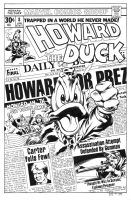 Howard the Duck 8 Cover Recreation by dalgoda7