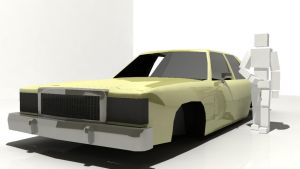 Crown Victoria WIP 3 (almost done) front by EnvythisRoadRunner