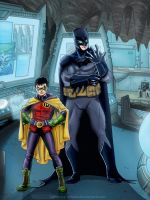 Batman and Robin by Lightning-Stroke