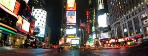 NYC: Times Square, PANORAMA by D-V