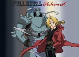 FMA Elric Brothers by pinkharte