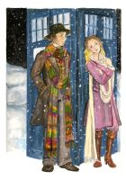 The Doctor and Romana by WintersKnight