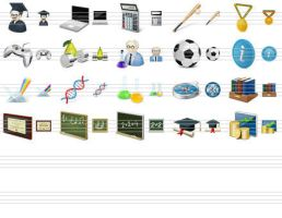 Desktop Education Icons by ahasofticons