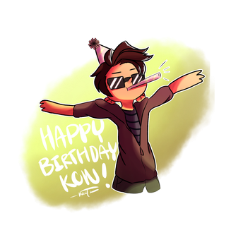 Happy Birthday Kon! by pika4tran