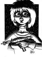 Girl with a Gun by Frohickey
