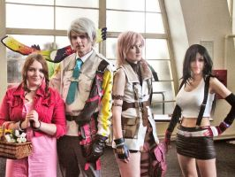 Final Fantasy cosplay group by ladylucienne