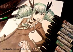 Hatsune Miku Secret Police illustration by Mistiqarts