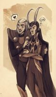 Thor and Loki by METSUSAN
