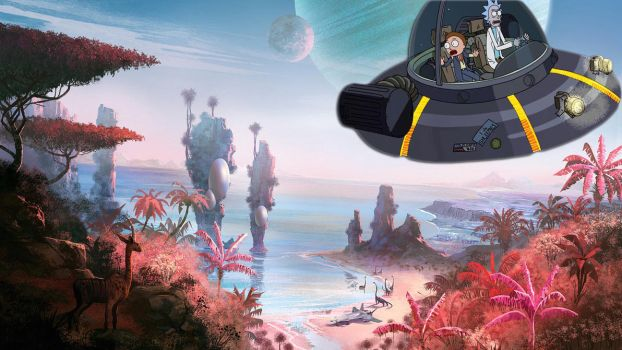 Exploring No Man's Sky with your best buddy by nontendofied