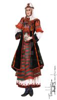 Bulgarian Folk Costume- Nosiya by FashionARTventures