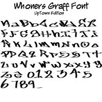 .:whoners Graff Font:. by whoners