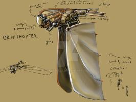 Ornithopter for IronCast by Lastelle