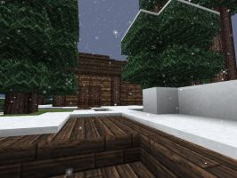 Minecraft Hunter's Wooden Cabin First Glimpse by lilgamerboy14