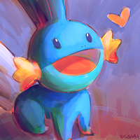 mudkip doodle by hisako