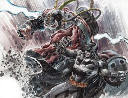 Bane VS Batman by ardian-syaf