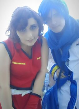 Kaito and Meiko Cosplay Vocaloid by GreyChan97 by GreyxPapp97