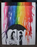 Melting Crayon Rain by GummyBearOrgy
