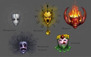 Bad Emotions Masks concept by curlyhair