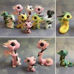 Cherry blossom dragons WIP by BittyBiteyOnes