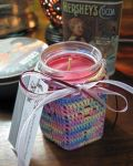 Crocheted cover soy candle... by doilydeas