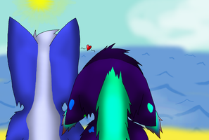 CP: Darkika Shipping - Watching The Waves by MidnightTheUmbreon