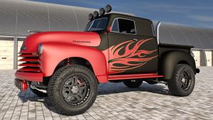 1951 Chevrolet Pickup 4x4 by SamCurry