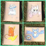 Pokemon pencil sketches #1 by Technoloaf