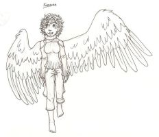 Winged Kameron walking by Doodlebotbop