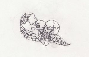 Music Tattoo Design by justin-malott