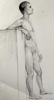 My final drawing for my figure drawing class by hannalemoine