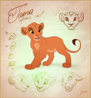 Tama Reference Sheet by EmilyJayOwens