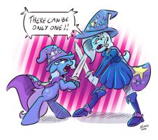 There can be only one: Trixie vs Trixie by picjusbro