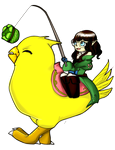 More fun with a fat chocobo by Danielle-chan