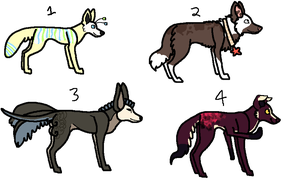 Dog Designs - Closed by PearlEvil