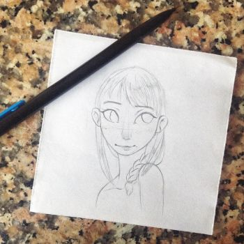 .-Astrid sketch-. by angelic1411