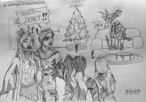 Gift: Christmas Party by Multifreak99