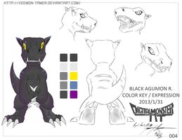 DIGIMON - DM2T : REF SHEET 004- BLACK AGUMON R by veemon-tamer