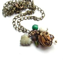Oaken Regalia Necklace no. 3 by sojourncuriosities