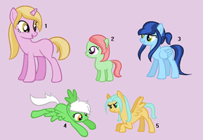 Pony Adoptables by Rain-Approves