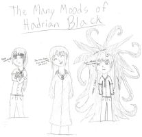 Many Moods of Hadrian Black by Itachisgirl4ever